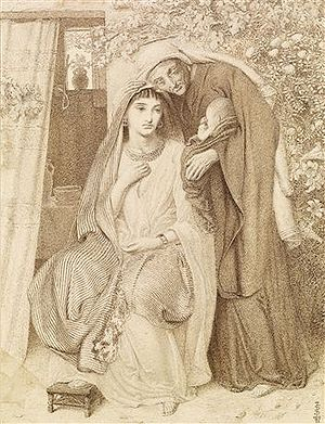 Honour thy father and thy mother - Ruth honoured her widowed mother-in-law Naomi. Simeon Solomon, 1860.