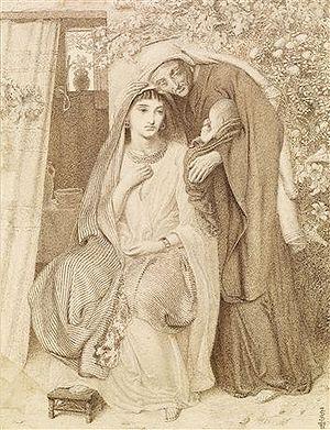 Obed (biblical figure) - Simeon Solomon, Ruth, Naomi and Obed, 1860.