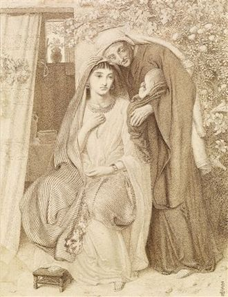 Obed (biblical figure) - Simeon Solomon, Ruth, Naomi and Obed, 1860.