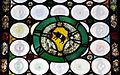 S.m. maddalena de' pazzi, int. cappella jacopi, vetratat con stemma jacopi, 1503 circa 2.jpg