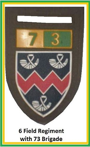 Vrystaatse Artillerie Regiment - Image: SADF 6 Field Regiment with 73 Brigade Flash