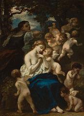 Een nimf met cupido's