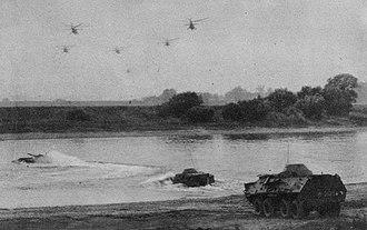 OT-64 SKOT - OT-64 SKOT in an amphibious assault exercise