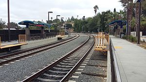 SPRINTER tracks looking east, Civic Center-Vista station.jpg
