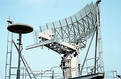 SPS-49 Air Search Radar antenna