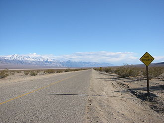 California State Route 190 - SR 190 in Panamint Valley