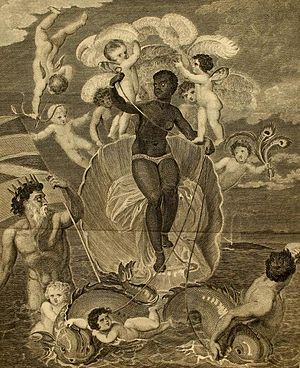 Bryan Edwards (politician) - Allegorical engraving Voyage of the Sable Venus from Angola to the West Indies. From vol. 2 of Bryan Edwards, The History, Civil and Commercial, of the British Colonies in the West Indies (1801).