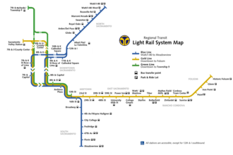 Sacramento RT Light Rail - Image: Sacramento RT light rail map