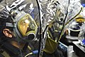 Sailors are fitted for gas masks. (12778504123).jpg