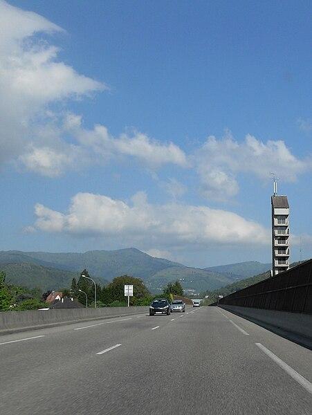 E 512, L'ancienne RN 66 à Saint-Amarin