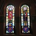 Saint Aloysius Catholic Church (Bowling Green, Ohio) - stained glass, Saints Michael and Gabriel.jpg