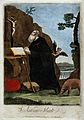 Saint Antony. Coloured engraving. Wellcome V0031587.jpg