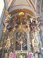 Saint Bernard church, altar, angels in Eger, 2016 Hungary.jpg