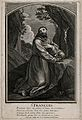 Saint Francis of Assisi. Engraving by M. Aubert, 1724, after Wellcome V0032053.jpg