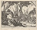 Saint John Preaching in the Desert (Saint Jean Préchant dans le Désert), with arm upraised, surrounded by male and female figures in a rocky setting MET DP834115.jpg