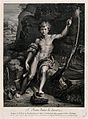 Saint John the Baptist. Engraving by F. Chereau after Raphae Wellcome V0033493.jpg