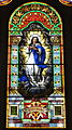 Saint Mary of the Immaculate Conception Church (Rushville, Indiana) - stained glass, Immaculate Conception - detail.jpg