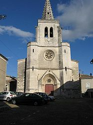 The church in Saint-Marcel-d'Ardèche