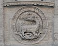 Salamander on the facade of the church of S. Louis of France.jpg