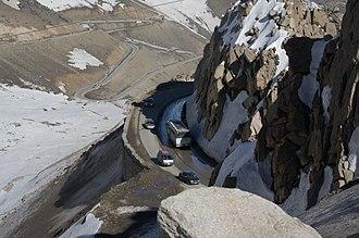 Salang Pass - A twisting road at the Salang Pass