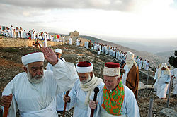 Samaritans on Mount Gerizim during Sukkot
