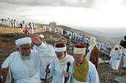 Samaritans on Mount Gerizim during Sukkot
