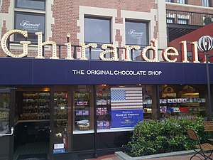 Chocolaterie - Ghirardelli Chocolate Company, San Francisco, a chocolate shop and manufacturer.