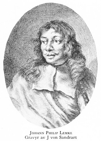 Johann Philip Lemke - Johann Philip Lemke Engraving by Joachim von Sandrart (before 1688)