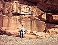 Sandstone Cliff Formation at Fleswick Bay - geograph.org.uk - 77300.jpg