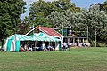 Sandwich Town CC cricket pavilion at Sandwich, Kent, England 03.jpg