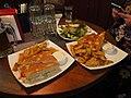 Sandwiches and salad at restaurant Speakeasy.jpg