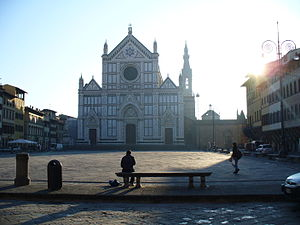 Florence Marathon - Florence's architecture features prominently – Piazza Santa Croce is the finishing point
