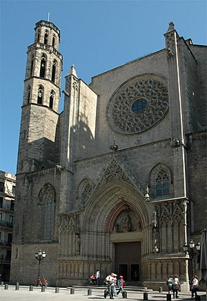 Santa Maria del Mar, Barcelona - The west end.