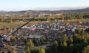 Santee, California - Aerial view of Santee Salutes festival in 2015