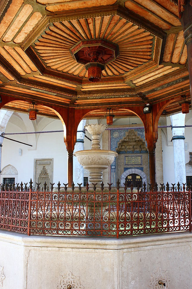 Gazi husrev beg mosque eanswers the fountain in the courtyard of the mosque altavistaventures Choice Image