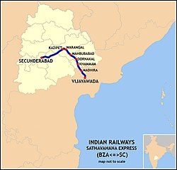 Sathavahana Express (BZA-SC) Route map.jpg