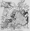 Satterfield cartoon on January nightmares of holiday bills (1904).jpg