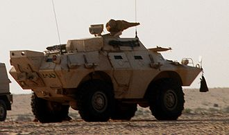 Saudi Arabian National Guard - A Saudi V-150 in 1991
