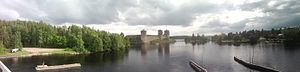 Savonlinna - Image: Savonlinna from bridge