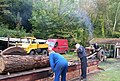 Sawing Logs- Amberley Working Museum - geograph.org.uk - 722065.jpg