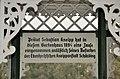 Schärding Kapuzinerkloster Kneippzentrum Kurpark Inschrift im Gartenhaus.JPG