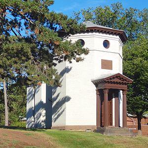 Daniel S. Schanck Observatory - The Daniel S. Schanck Observatory as seen from George Street in 2014.