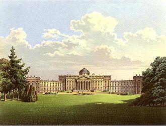 Schloss Wilhelmshöhe - Schloss Wilhelmshöhe in 1860