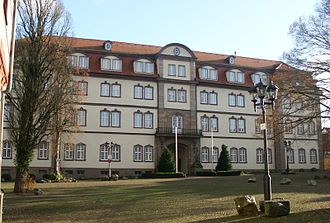 Rotenburg an der Fulda - Landgrave's palace in Rotenburg, front view of main building