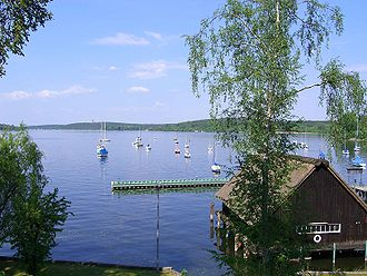 Schwanenwerder - View from Schwanenwerder over the Havel river