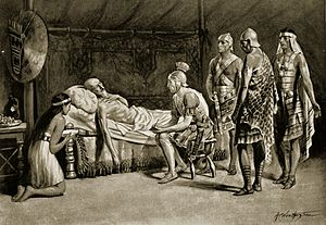 Masinissa - Image: Scipio at the deathbed of Masinissa (C20)