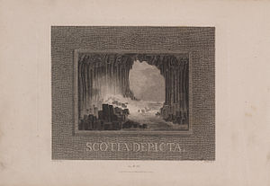 James Fittler - Frontispiece from Fittler's Scotia Depicta showing Fingal's Cave