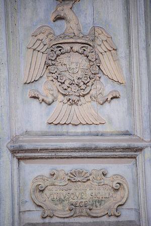 English: . Italiano: Scudo di Carlo III, re di...