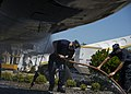 Sea Cadets of the Naval Sea Cadet Corps (NSCC) wash the static display of a P-3C Orion on Naval Air Station (NAS) Whidbey Island.jpg