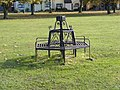 Seat on the playing fields at Martlesham Heath - geograph.org.uk - 1025886.jpg